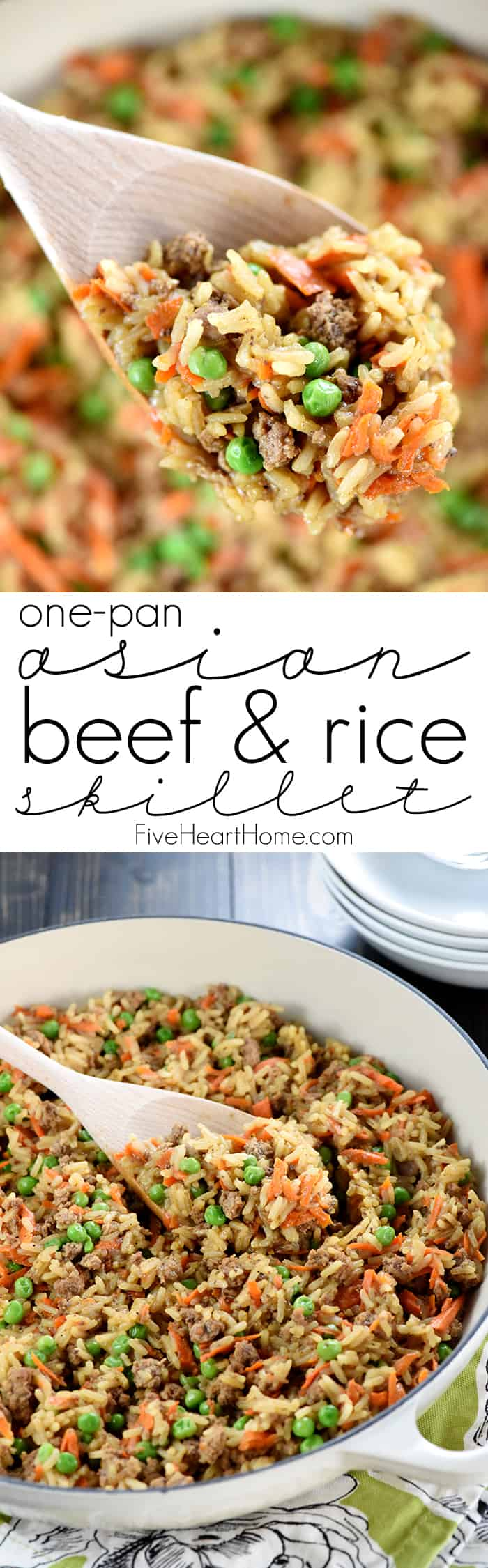 One Pan Asian Ground Beef And Rice Recipe Fivehearthome