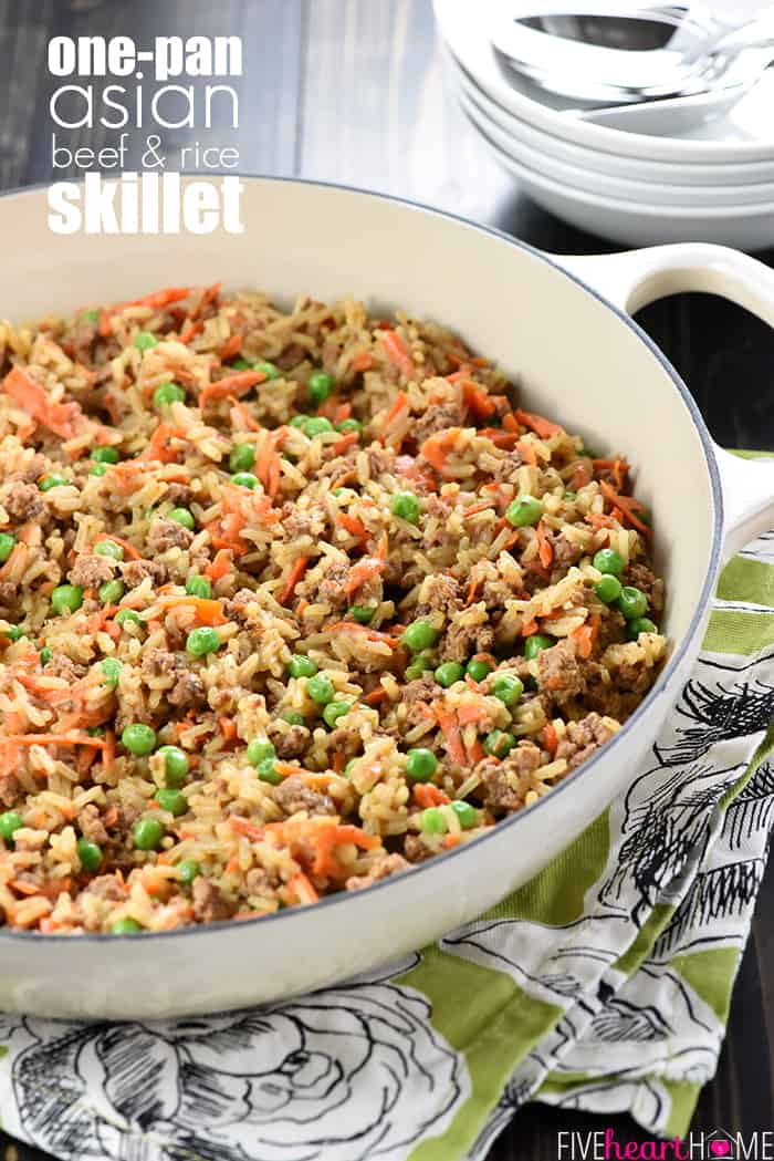 One pan asian beef rice skillet asian beef rice skillet a quick and easy dinner recipe requiring a simple list forumfinder Choice Image