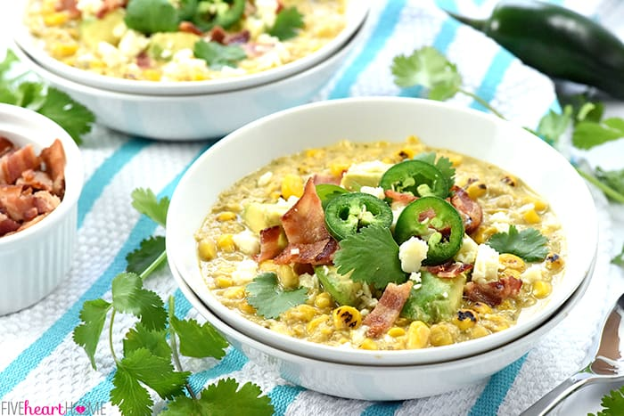 Slow Cooker Mexican Street Corn Chowder