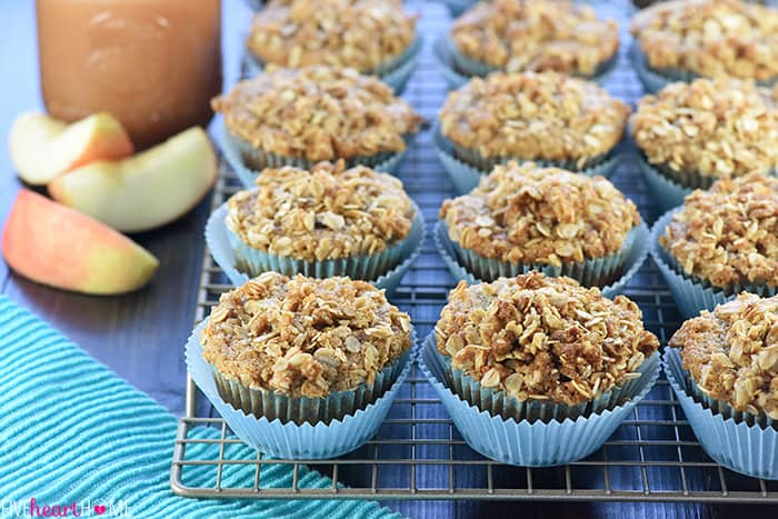 Healthy Whole Wheat & Honey Applesauce Muffins