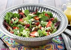 Easter Salad ~ Strawberry Goat Cheese Salad with Lemon Honey Vinaigrette