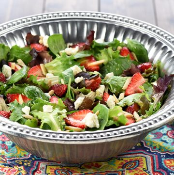 Easter Salad {Strawberry Goat Cheese Salad with Lemon Honey Vinaigrette} + VIDEO