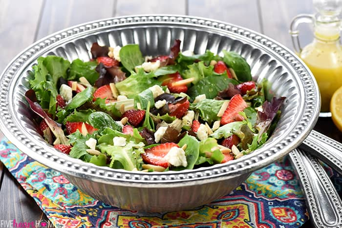 Easter Salad ~ AKA, Strawberry Goat Cheese Salad with Lemon Honey Vinaigrette