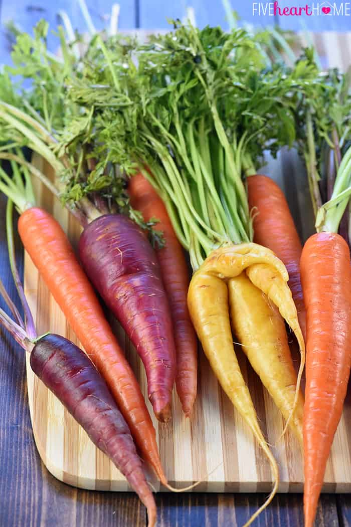 how to cook mixed coloured carrots
