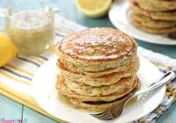 Whole Wheat Lemon Poppy Seed Pancakes