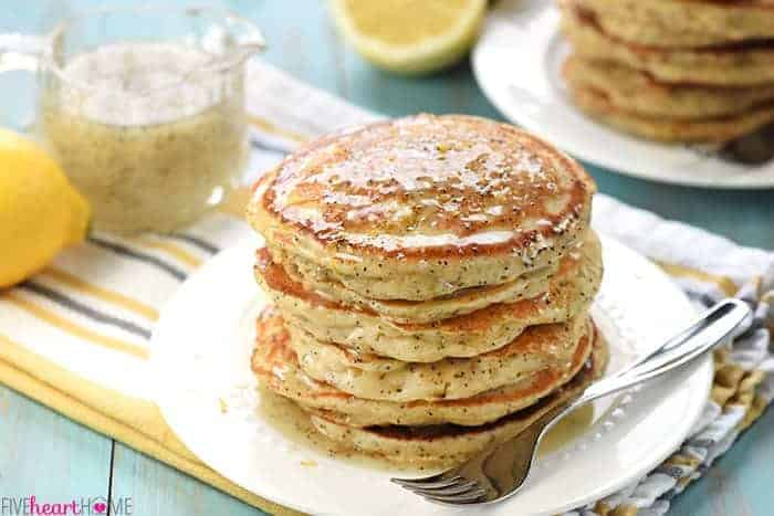 Whole Wheat Lemon Poppy Seed Pancakes