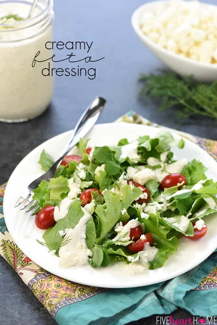 Creamy Feta Dressing with Text Overlay