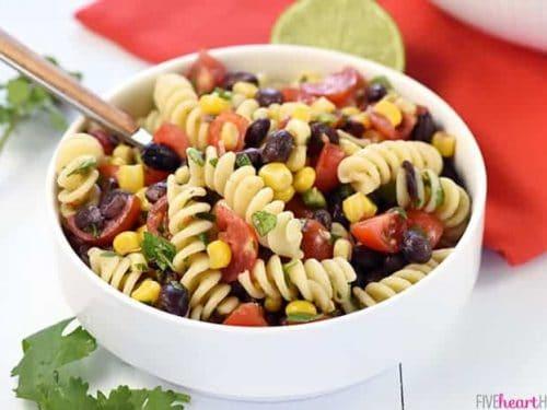 Mexican Pasta Salad Aka Fiesta Pasta Salad Fivehearthome