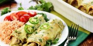Creamy Jalapeño Chicken Enchiladas