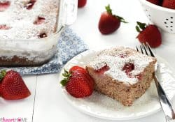 Strawberry Snack Cake + Five Heart Home's 4th Blogiversary