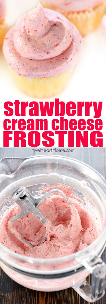 Strawberry Cream Cheese Frosting Collage with Text Overlay