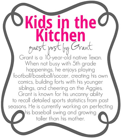 Kids in the Kitchen Guest Post Bio