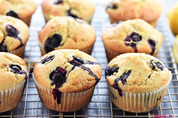 Whole Wheat Lemon Blueberry Muffins