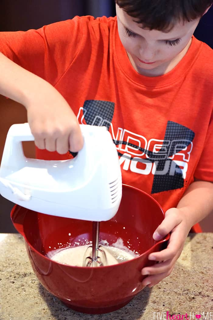 Reid Whipping Cream in Red Bowl