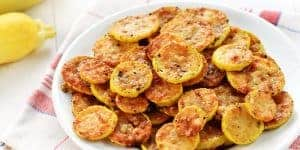 Baked Parmesan Yellow Squash Rounds