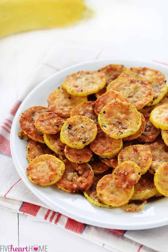Baked Parmesan Yellow Squash Recipe 2 Ingredients Fivehearthome