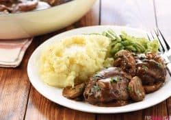 Easy Beef Patties with Mushroom Gravy