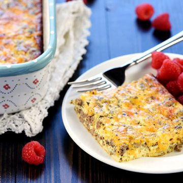 Ground Beef, Egg, & Cheese Breakfast Casserole