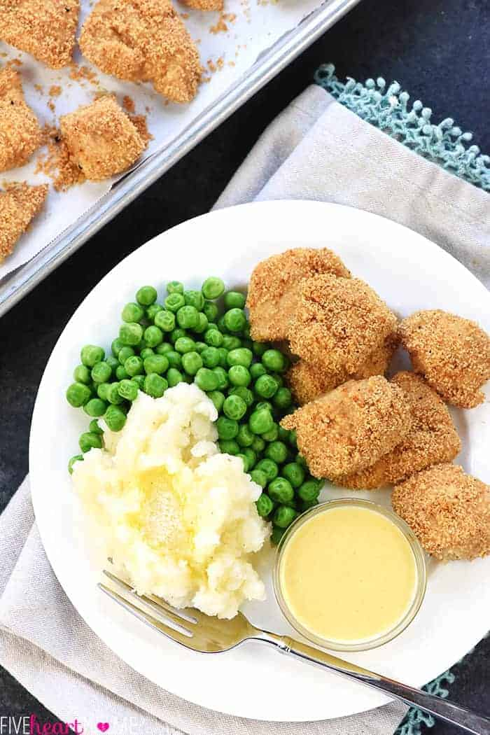 Copycat Shake 'n Bake Chicken Nuggets ~ a quick and easy recipe for making tasty homemade nuggets that are a hit with kids and adults alike! | FiveHeartHome.com