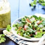 Cilantro Lime Vinaigrette ~ a zesty homemade Mexican dressing perfect for marinades and salads, featuring lime juice, fresh cilantro, and a touch of honey! | FiveHeartHome.com