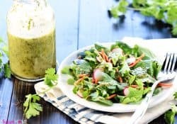 Cilantro Lime Vinaigrette {Zesty Mexican Salad Dressing}