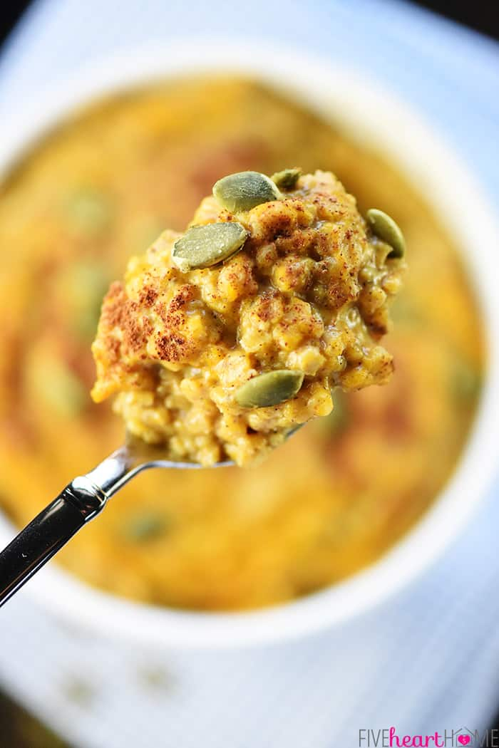 Spoonful of Quick & Easy Pumpkin Oatmeal