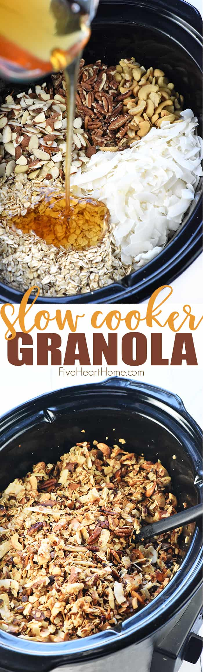 Slow Cooker Granola Collage with Text Overlay