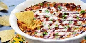 BBQ Chicken Dip ~ for Slow Cooker, Stovetop, or Oven!
