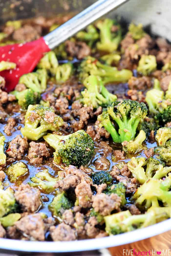 One-Pan Ground Beef and Broccoli