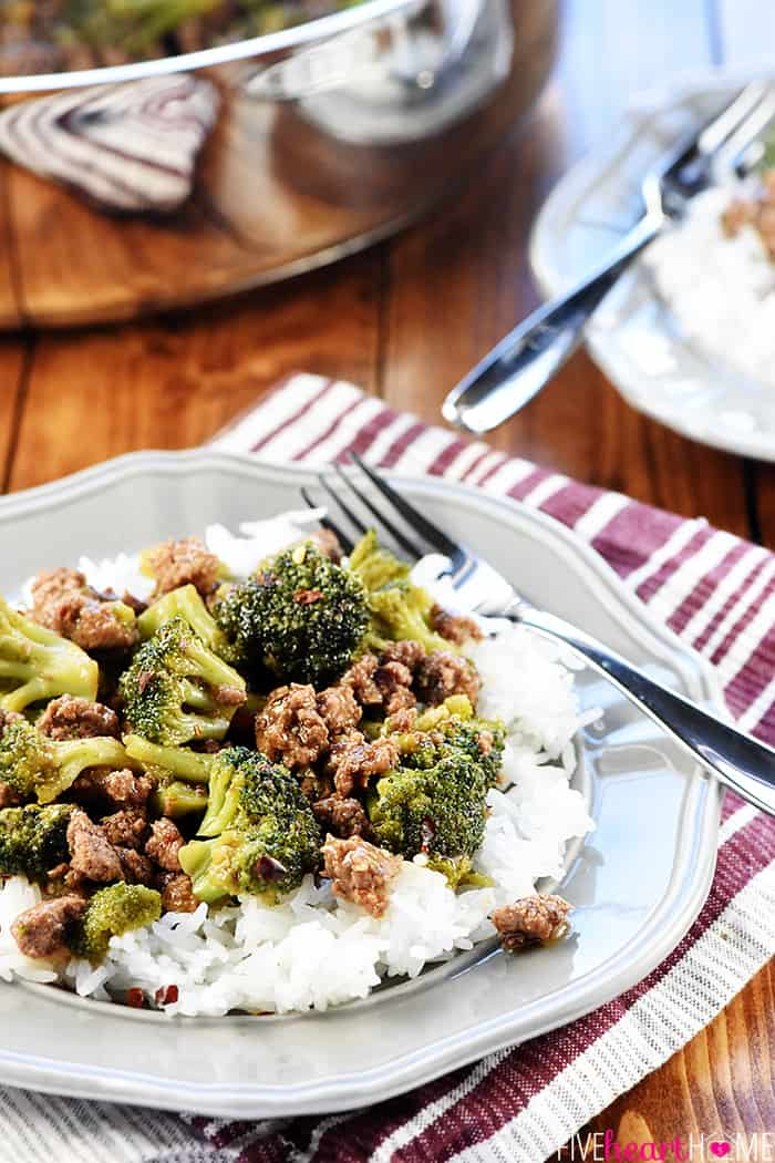 DELICIOUS Ground Beef & Broccoli • FIVEheartHOME