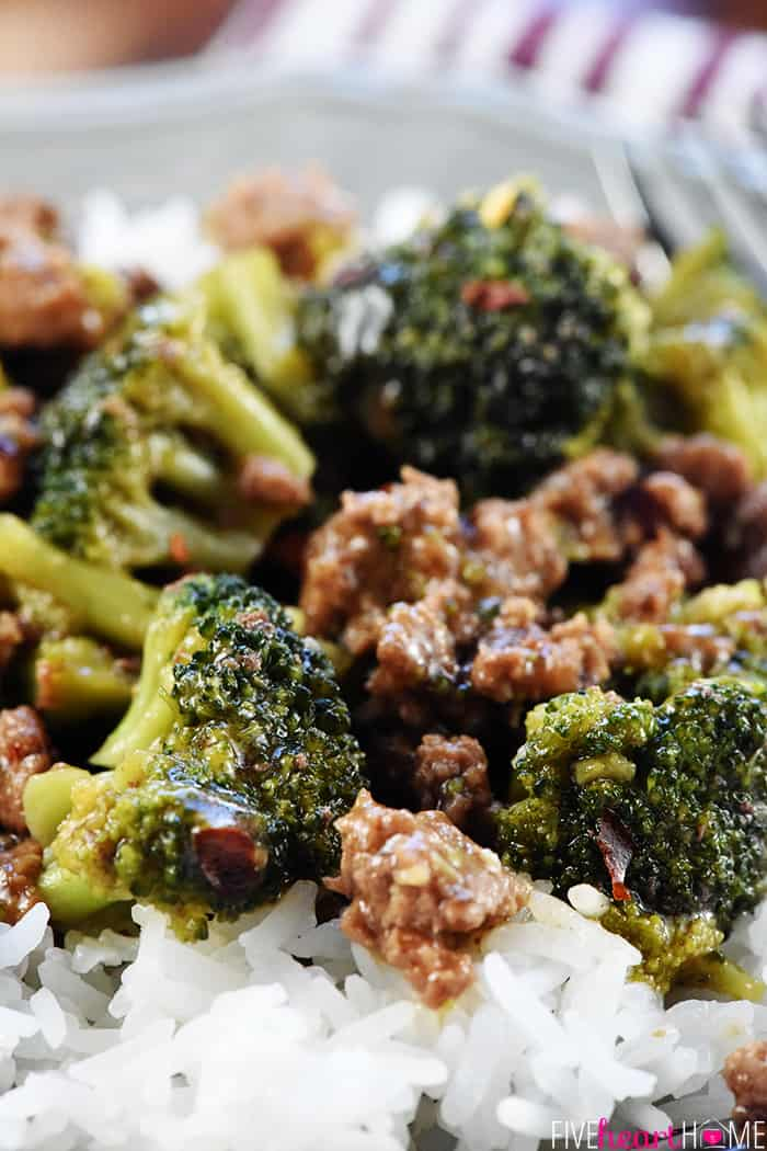 Ground Beef & Broccoli