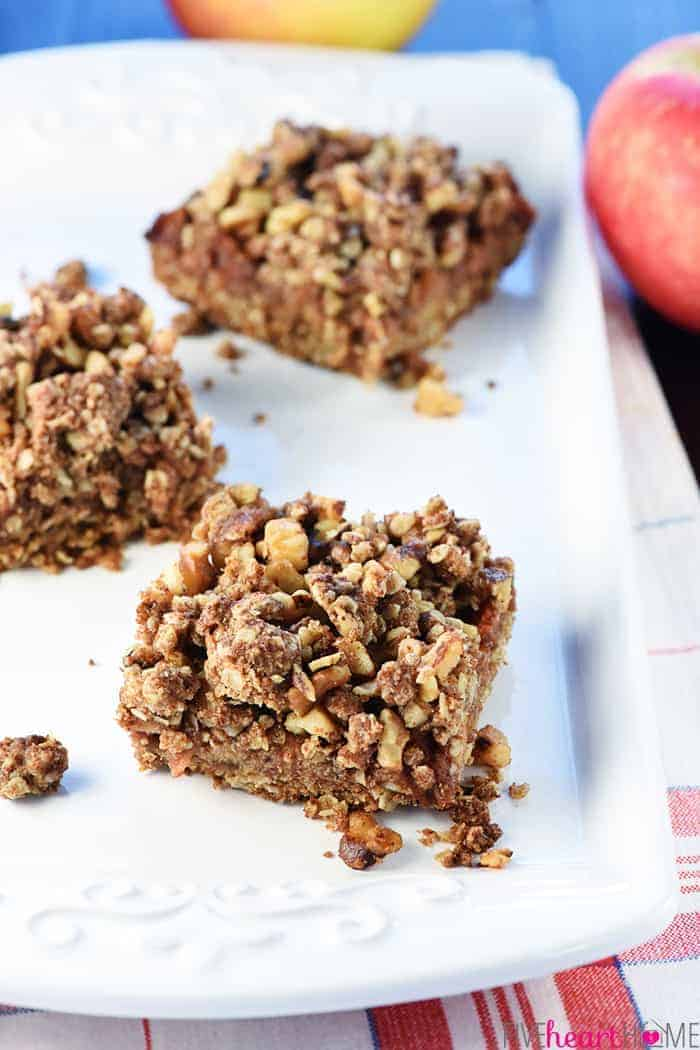 Healthy Apple Oatmeal Bars