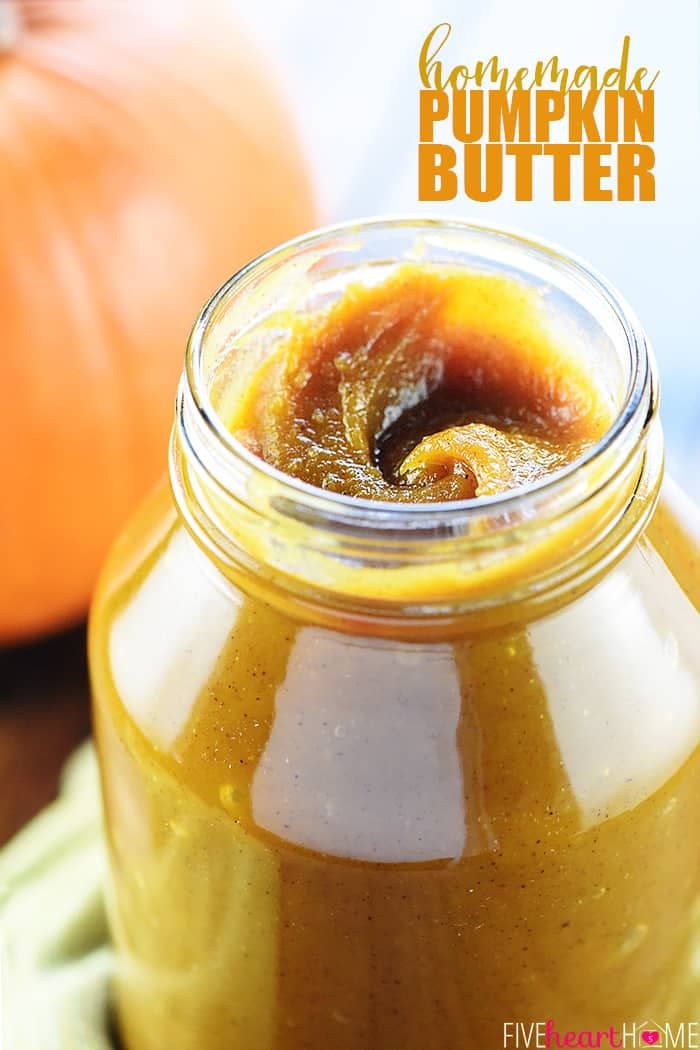 Homemade Pumpkin Butter with text overlay