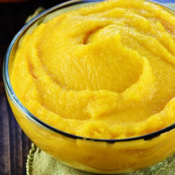 Homemade Pumpkin Puree ~ step-by-step directions to make healthy and delicious puree for all of your favorite pumpkin recipes!