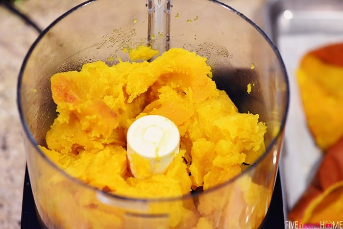 How to make pumpkin puree in a food processor