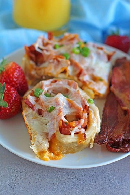 Easy Bacon, Ham, & Cheese Rolls