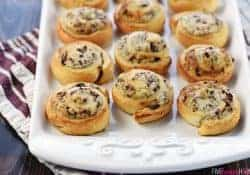Blue Cheese, Cranberry, & Pecan Crescent Pinwheels