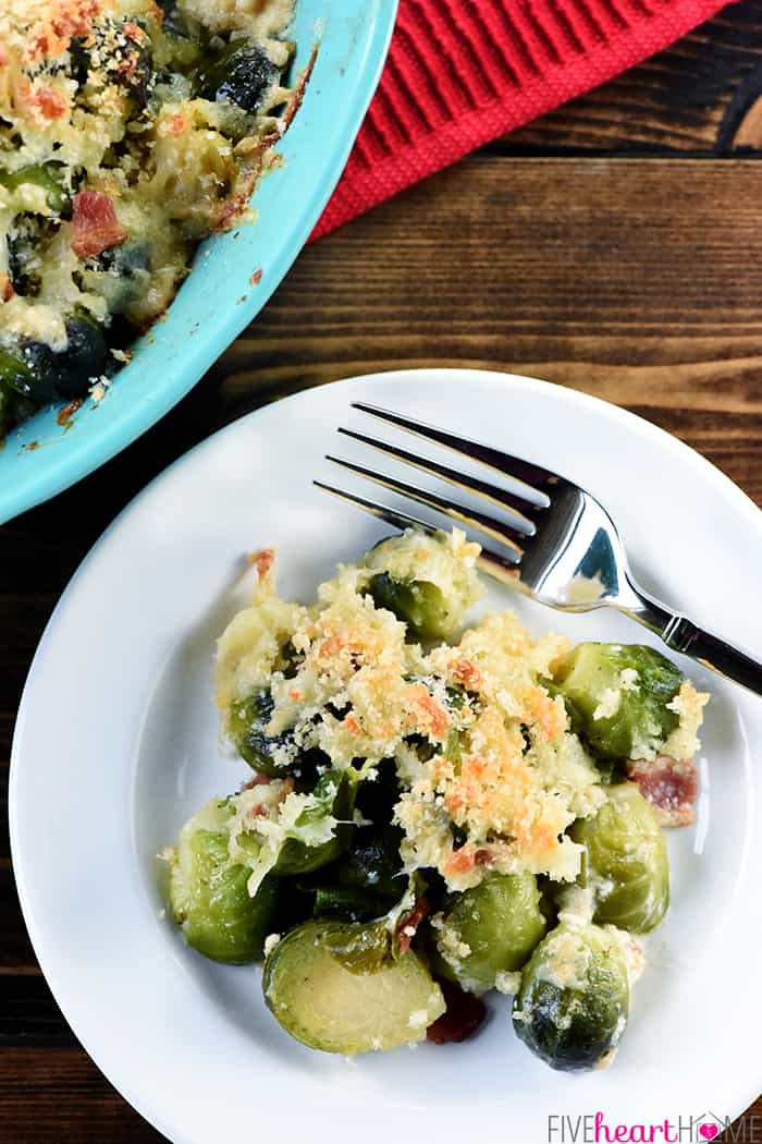 Brussel Sprout Casserole with Bacon