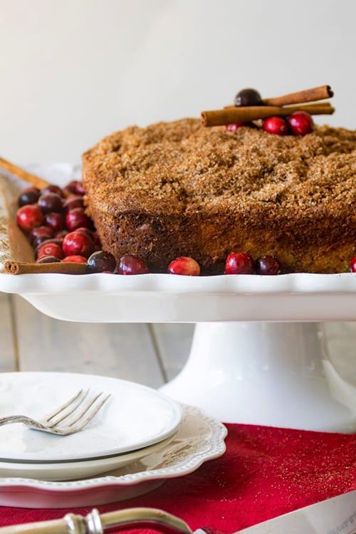 Cranberry Cream Cheese Coffee Cake