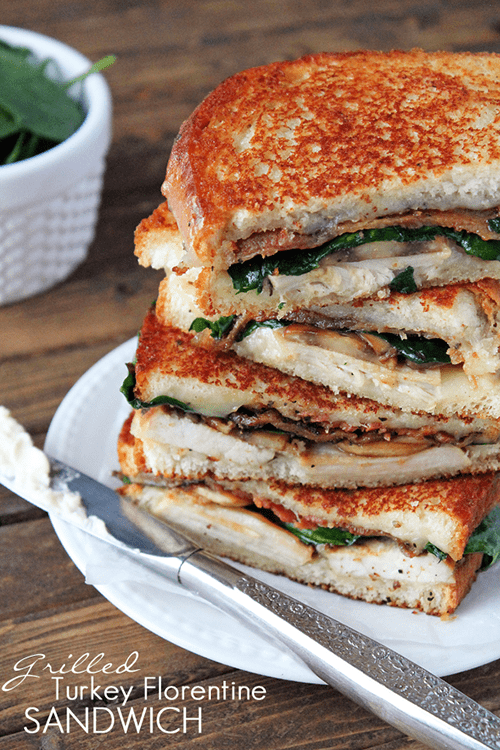 Grilled Turkey Florentine Sandwich
