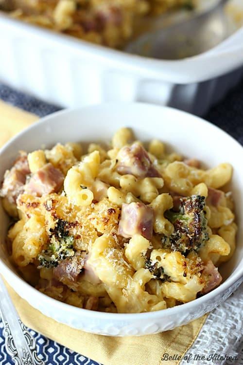 Ham & Broccoli Macaroni and Cheese