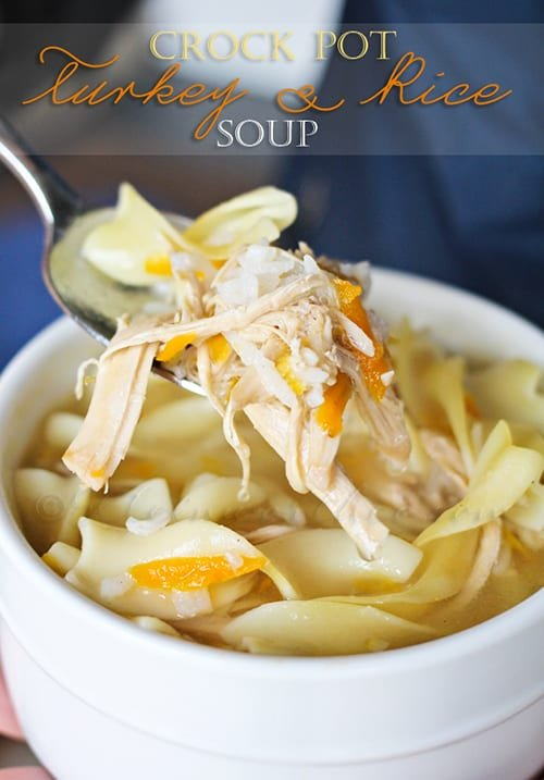 Slow Cooker Turkey Rice Soup