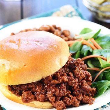 The BEST Homemade Sloppy Joes + VIDEO