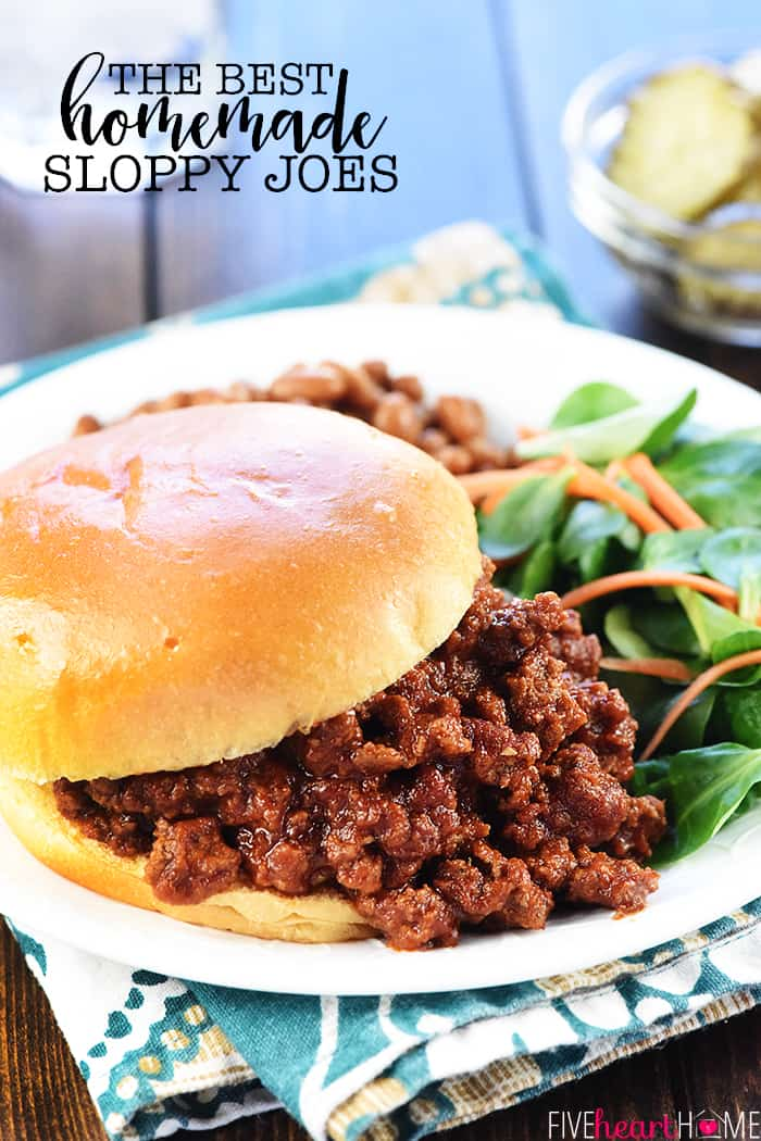 The Best Homemade Sloppy Joes Delicious Quick And Easy To Make Using Real