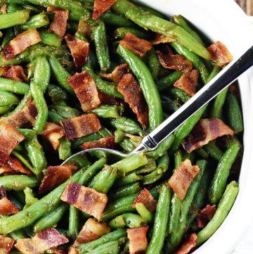 Bacon Green Bean Casserole from Scratch