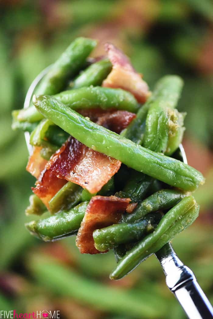 Green Bean Casserole with Bacon and Brown Sugar