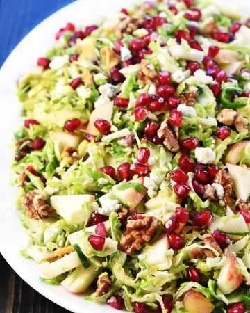 Shaved Brussels Sprout Salad for the holidays.