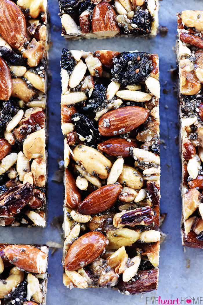 Aerial view of homemade KIND Bar recipe.