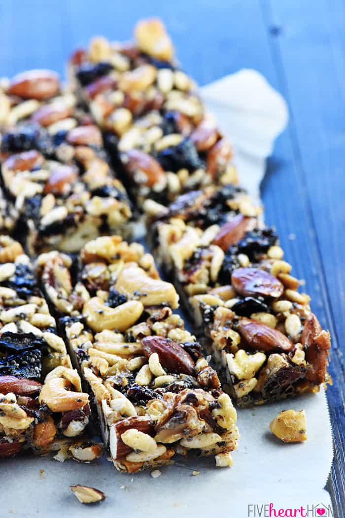 Close-up of KIND Bar recipe.