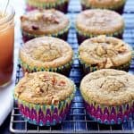 Healthy Blender Applesauce Muffins ~ loaded with wholesome ingredients for a quick, yummy breakfast or snack that's as easy as blend, pour, and bake! | FiveHeartHome.com
